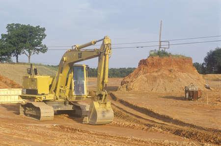 Earth moving equipment in Appomattox, Virginia