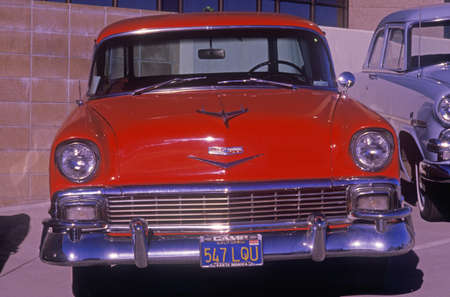 chevy: A 1953 Chevy antique car in Hollywood, California Editorial