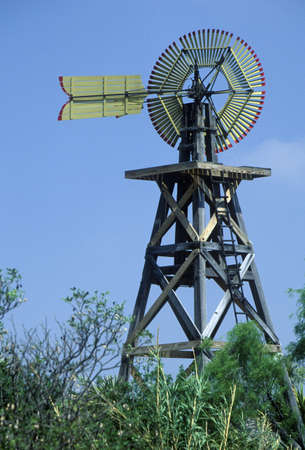 1904 windmill on site of Judge Roy Bean in Langtry, TX