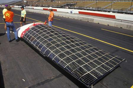 the flair: Solar Flair solar powered car at the Solar and Electric 500, AZ