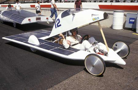 Solar powered car at the Solar and Electric 500, AZ