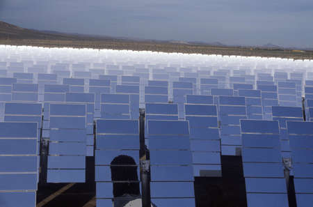barstow: Solar One panels at South California Edison Plant in Barstow, CA