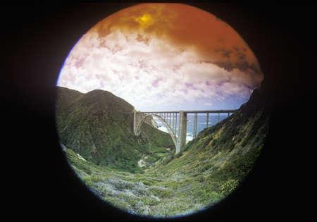big sur: The Bixby Bridge in Big Sur, Northern California