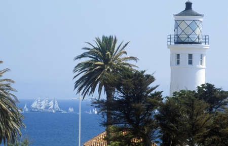 Palos Verdes Road Lighthouse on North Long Beach, CA