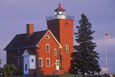 mn: Two Harbors Light Station along Agate Bay on Lake Superior, MN