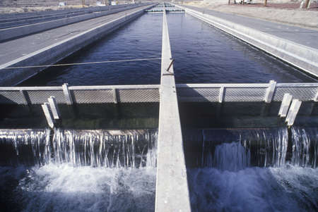 agricultural engineering: Replenishing lakes at the Fish Springs Hatchery, North of Lone Pine, CA