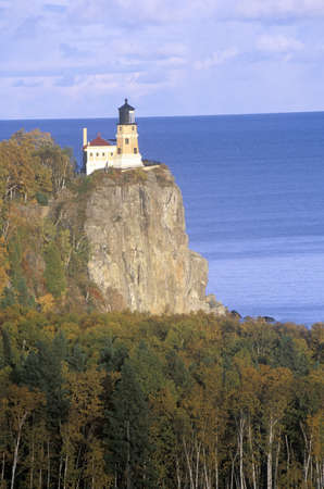 mn: Split Rock Lighthouse in the  Split Rock Lighthouse State Park on Lake Superior, MN Editorial
