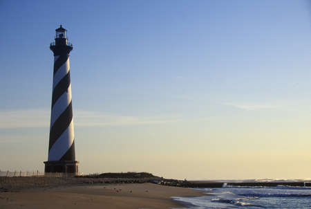 Cape Hatteras Lighthouse at Cape Hatteras National Seashore, NC Editorial