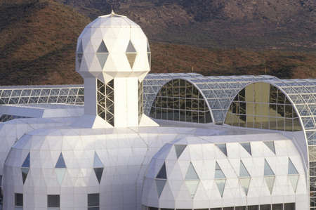 biosphere: Biosphere 2 living quarters and library at Oracle in Tucson, AZ