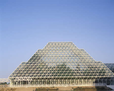 oracle: Rainforest and living quarters of Biosphere 2 at Oracle in Tucson, AZ Editorial