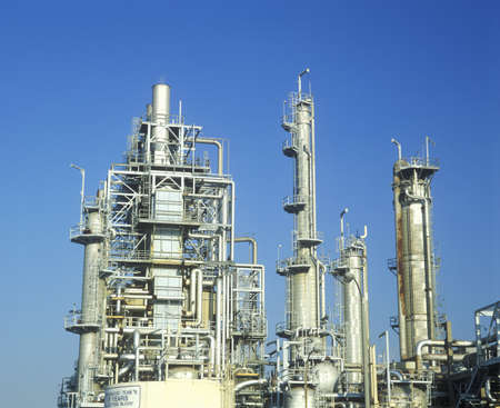 Oil refinery at Arco-Wilmington in Long Beach, CA