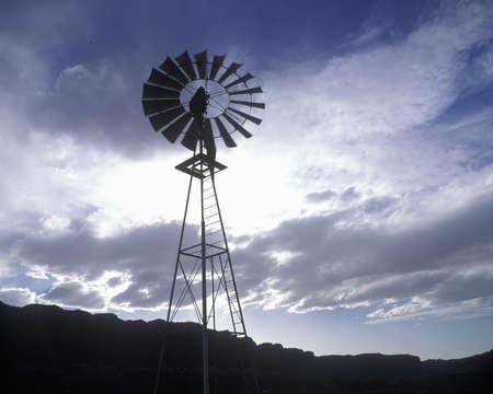 roundtable: Windmill on ranch near Roundtable Mountain, UT