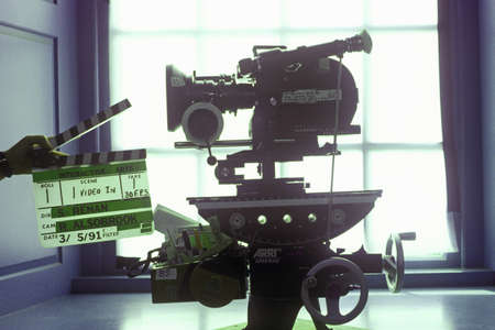 filmmaker: An Arriflex 16mm motion picture camera for Hollywood film industry