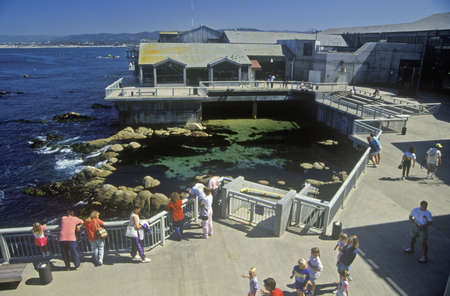 monterey: Exterior of Monterey Aquarium, Monterey, CA