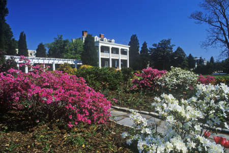 md: Spring view of house and garden, Chestertown, MD Editorial