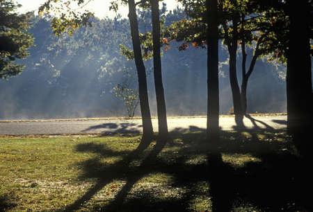 ニュー イングランド、湖の日の出