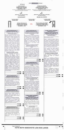 absentee: Official Election absentee ballot for the 2004 Presidential Election