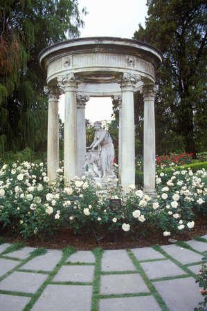 statuary garden: Gazebo with statuary, Huntington Library and Gardens, Pasadena, CA Editorial