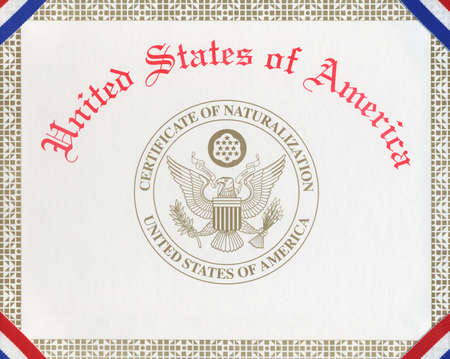 naturalization: Certificate of Naturalization for the United States