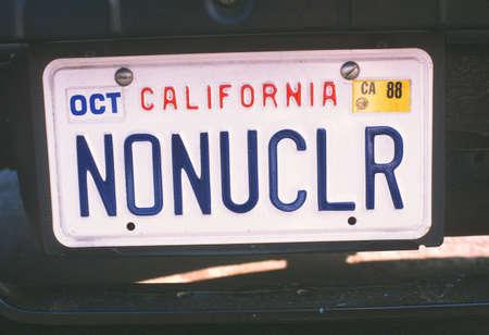 nuke plant: Vanidad placa - California