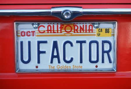 plaque immatriculation: Vanity License Plate - Californie