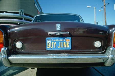 junk: Vanity License Plate - California Editorial