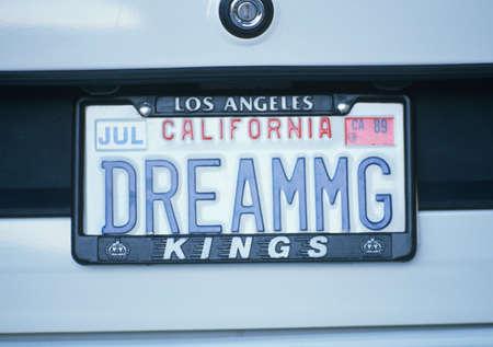 sleeper: Vanity License Plate - California Editorial