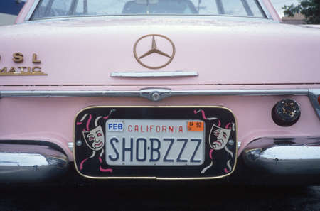 north hollywood: Vanity License Plate - California Editorial