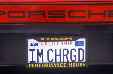 Vanity License Plate - California Sajtókép