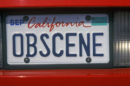 Vanity License Plate - California 新聞圖片