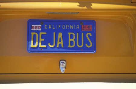 Vanity License Plate - California 에디토리얼