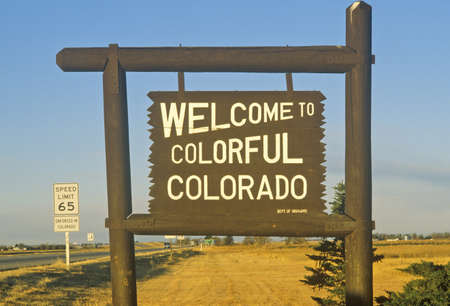 western usa: Welcome to Colorado Sign