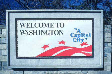 district columbia: Welcome to District of Columbia Sign