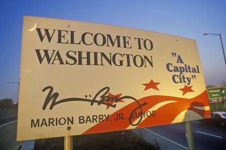 district of columbia: Welcome to District of Columbia Sign