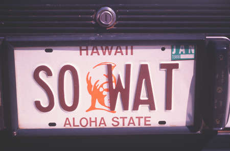 Vanity License Plate - Hawaii