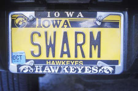 iowa: Vanity License Plate - Iowa
