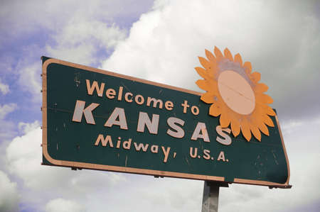 cultural artifacts: Welcome to Kansas Sign
