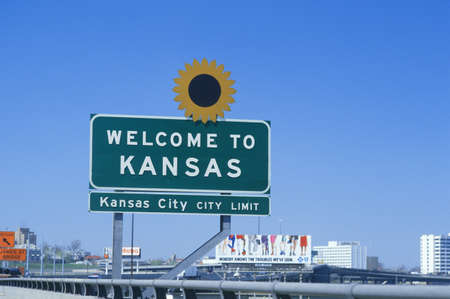 great plains: Welcome to Kansas Sign