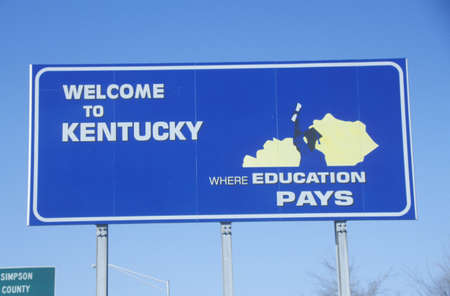 cultural artifacts: Welcome to Kentucky Sign Editorial