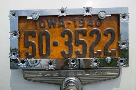 rusty car: Vanity License Plate - Iowa
