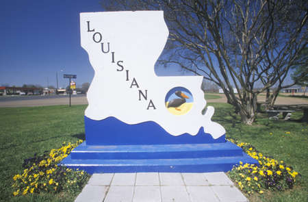 cultural artifacts: Welcome to Louisiana Sign