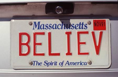Vanity License Plate - Massachusetts