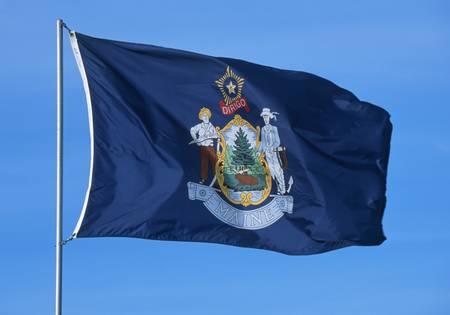 bandera inglaterra: Bandera del estado de Maine