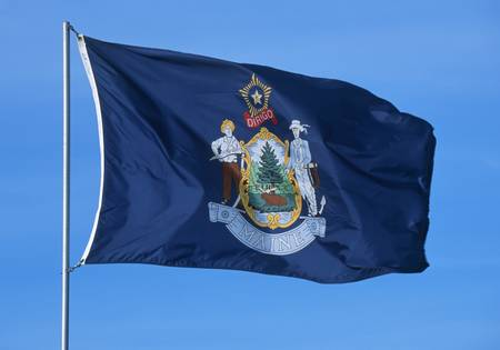 england flag: State Flag of Maine
