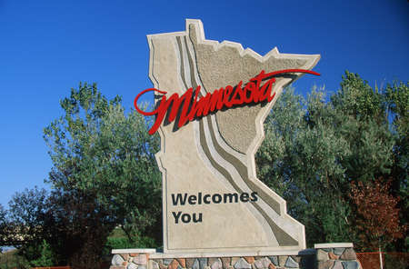 cultural artifacts: Welcome to Minnesota Sign