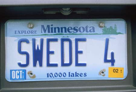 Vanity License Plate - Minnesota