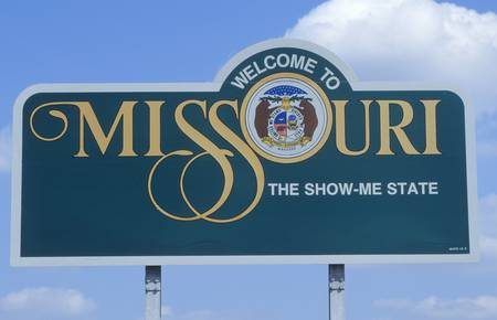 cultural artifacts: Welcome to Missouri Sign
