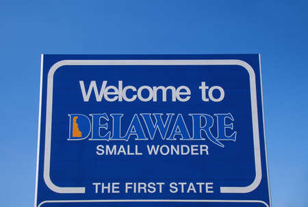 cultural artifacts: Welcome to Delaware Sign