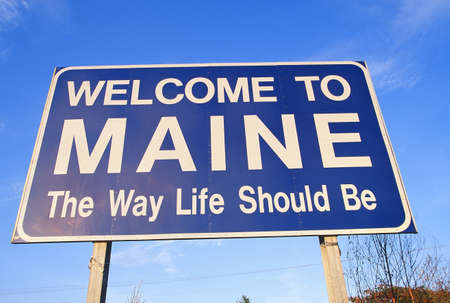 cultural artifacts: Welcome to Maine Sign
