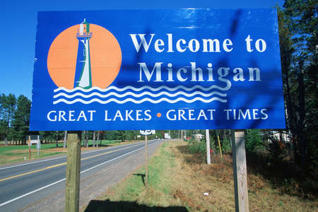 cultural artifacts: Welcome to Michigan Sign